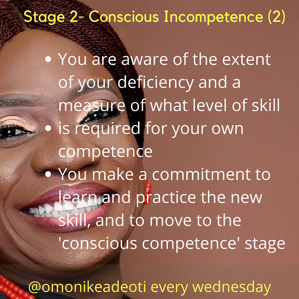 You are aware of the extent of your deficiency and a measure of what skill is required for your own competence