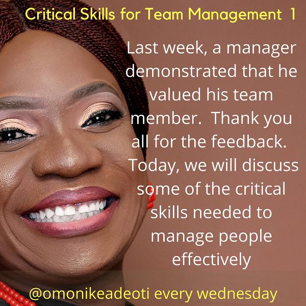Critical Skills for Team Management