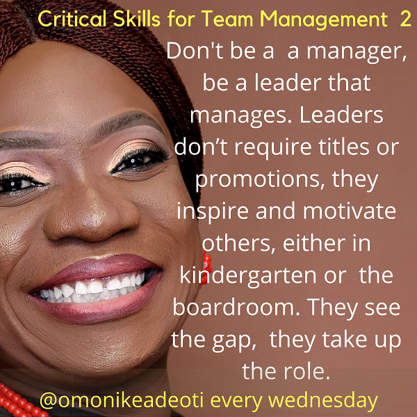 Don't be a manager, be a leader that manages
