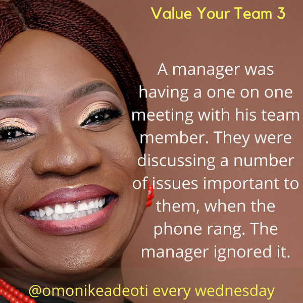 One on one meeting with a team member