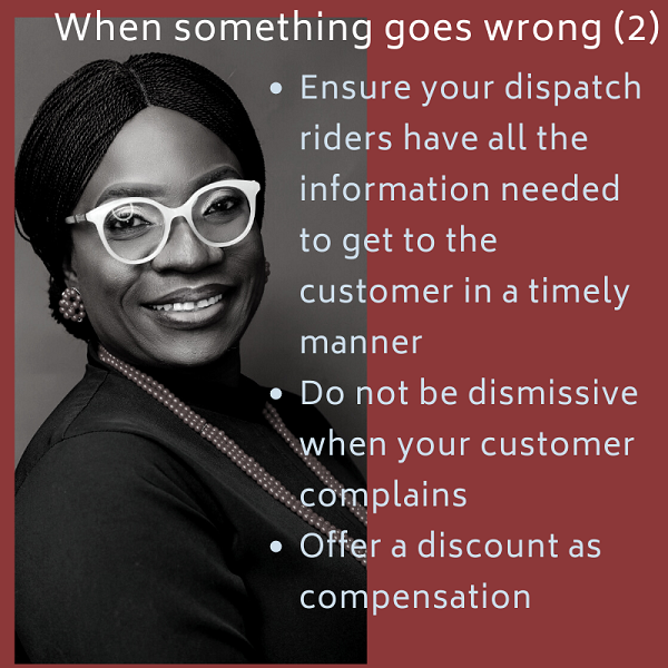 Ensure your dispatch riders have all the information to get to the customer in a timely manner