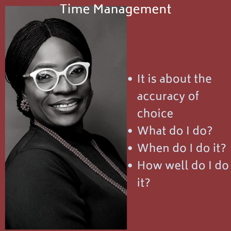 Time Management, self-management
